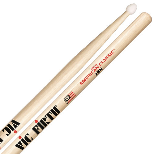 Vic Firth American Classic 2BN Drumsticks - Nylon Tip