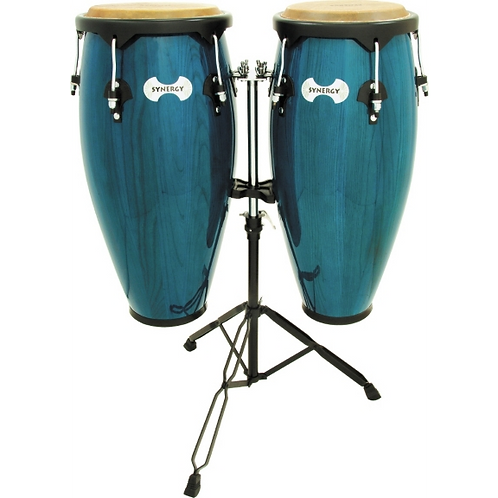 Toca Synergy Conga Set with Stand Blue