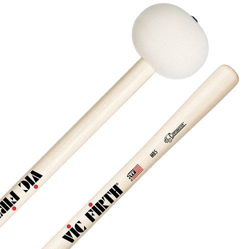 VIC FIRTH CORPSMASTER MB5H 2X-LARGE FELT MARCHING BASS DRUM MALLETS