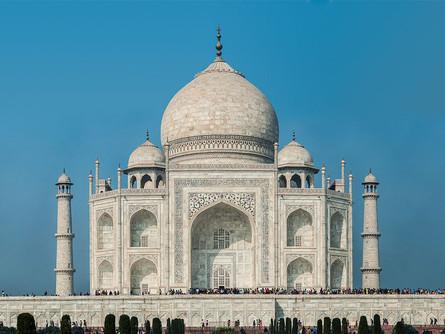 Eerily empty Taj Mahal after longest shutdown