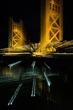 Yellow Bridge over the River