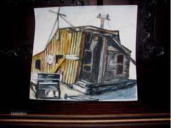 Bodie Carpenter Shack 9x12  Watercolor