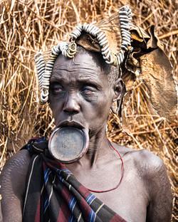 Mursi Woman with Lip Plate-5981