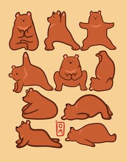yoga bears