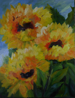 Tres Sunnies - oil on canvas