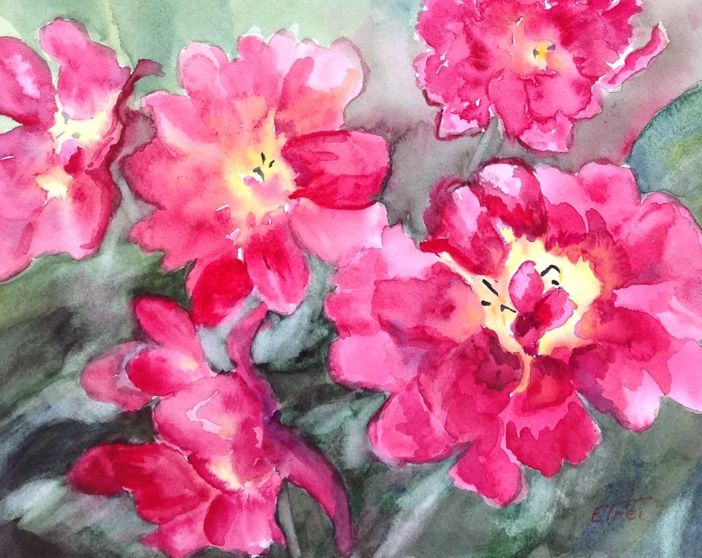 Spring Tulips - watercolor
