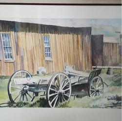 Bodie Wagon  18x24  Watercolor