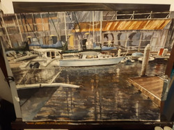 Newport Beach Harbor  18x24  Watercolor