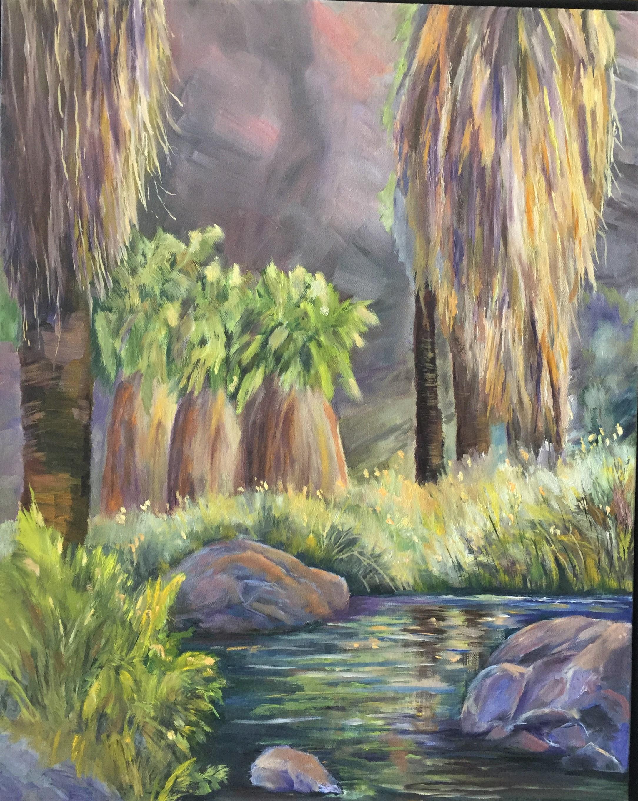 6-15-19  Andreas Trail Lagoon  24 x 30
