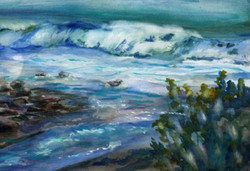 Carpenteria Wave - watercolor