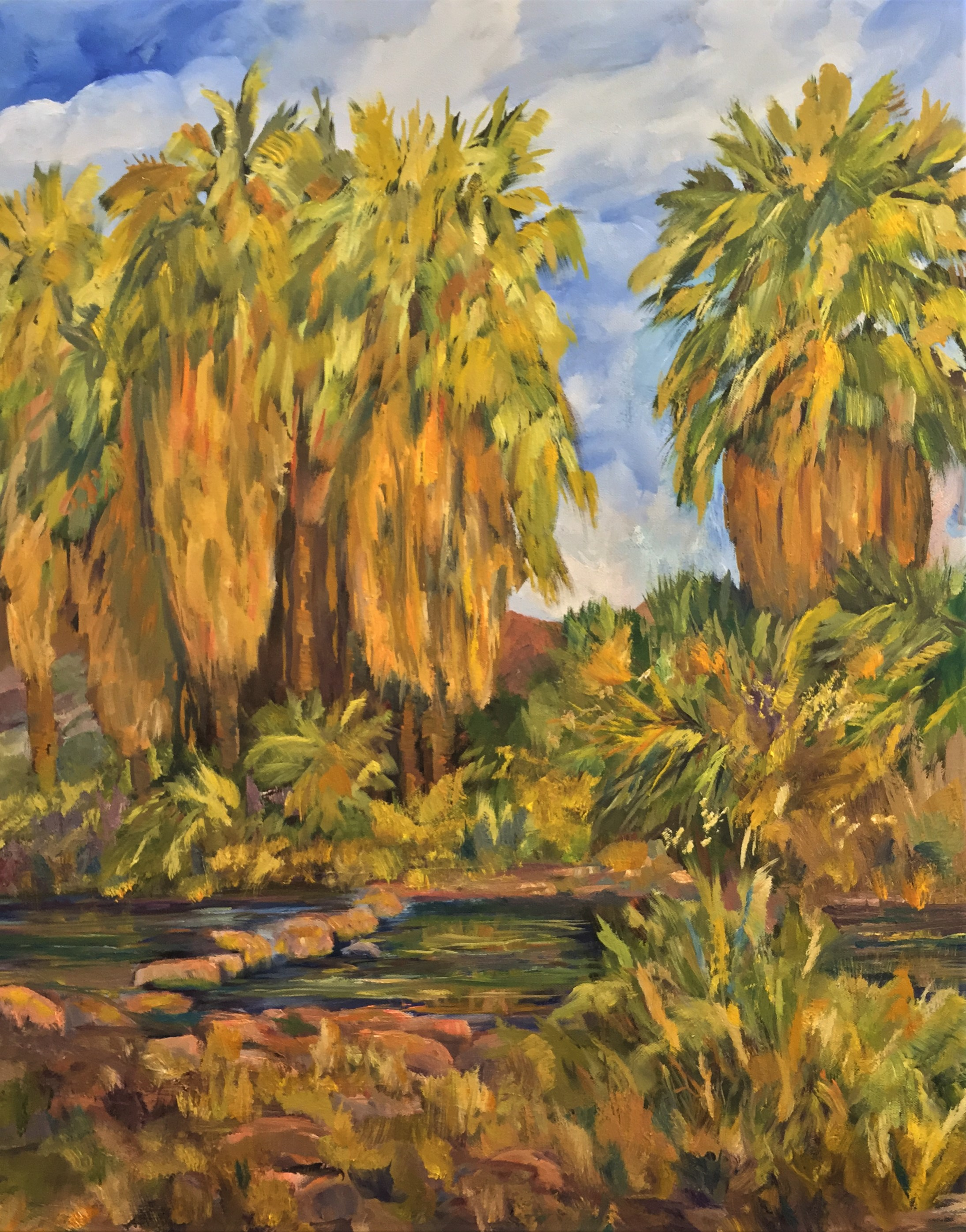 4-18-19  Andreas Trail Palms  30 x 24
