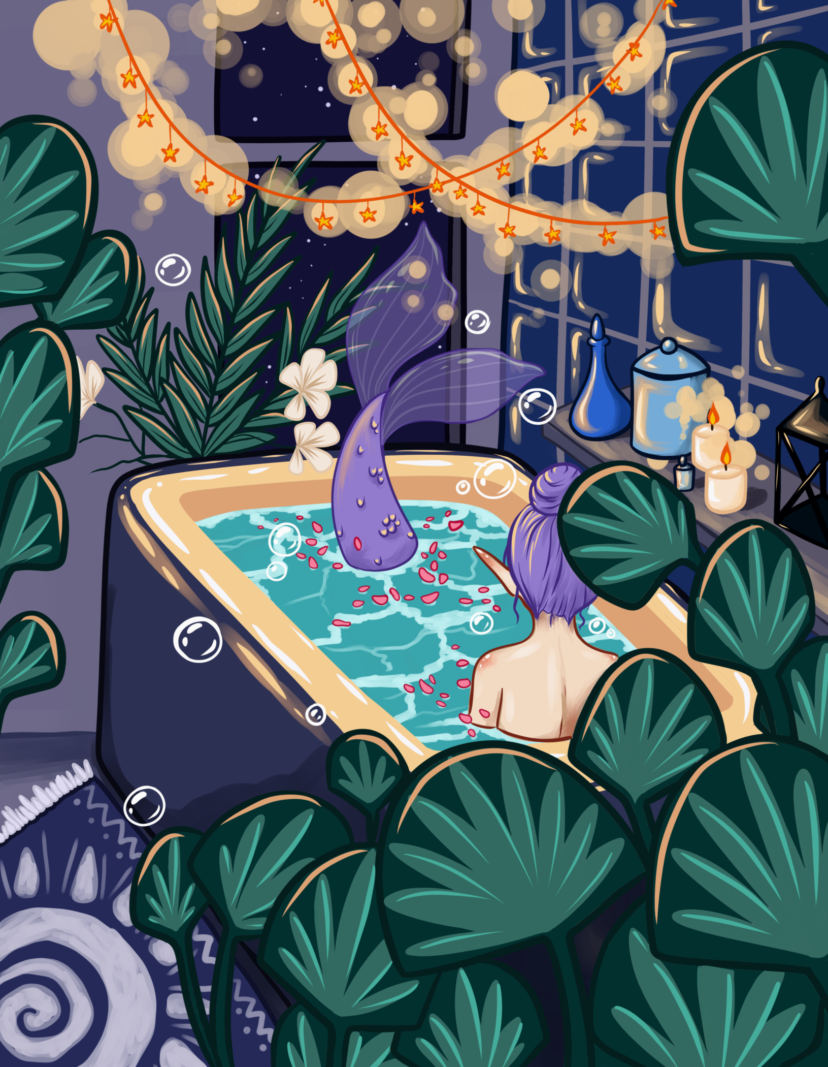 mermaid bath.jpg 5 x 7