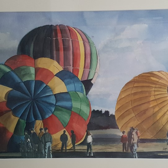 Balloon Festival  18x24  Watercolor