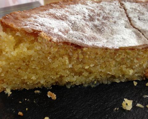 GF Lemon Polenta Cake
