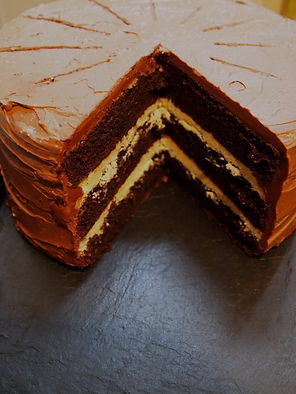 Triple Layer Salted Caramel Fudge Cake