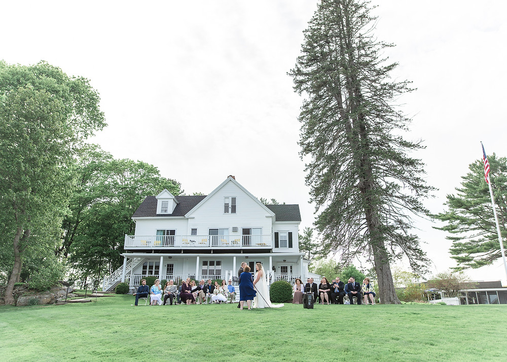 Wedding photography at the Dockside Guest Rooms in York, Maine
