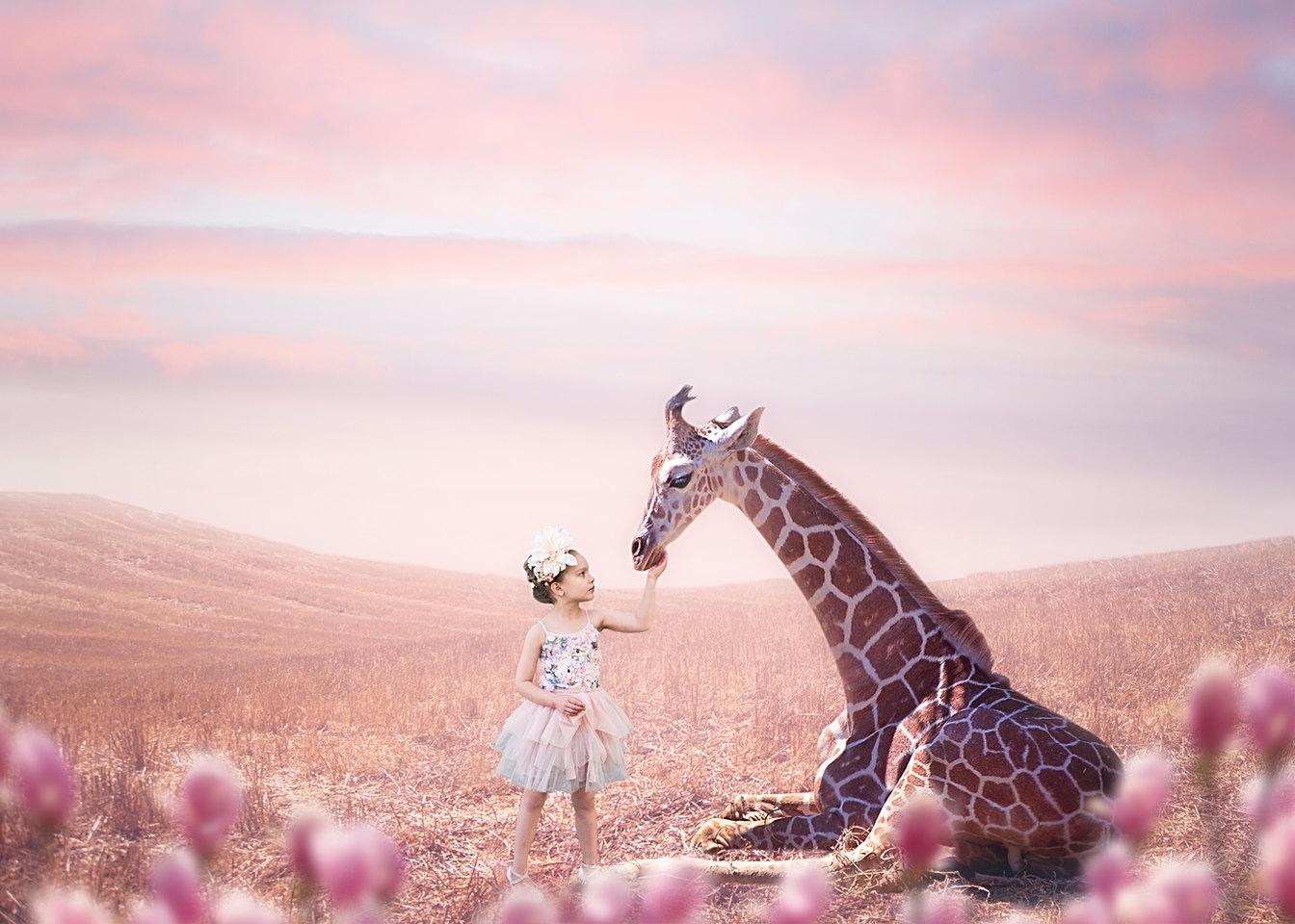 Giraffe Kids Photography in Maine