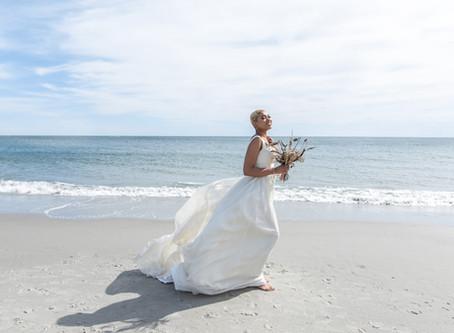 Southern Maine Beach Wedding Photography Session | Sustainable Wedding & Fashion