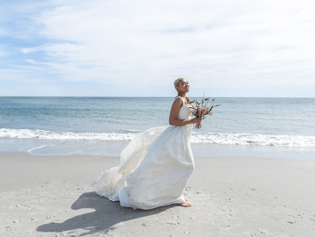 Southern Maine Beach Wedding Photography Session | Sustainable Wedding & Fashion