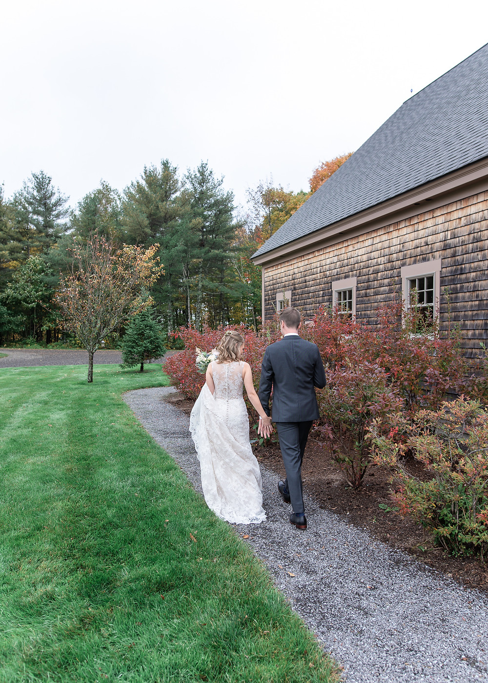 Couples portraits at Beech Hill Barn wedding photography