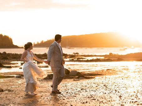Acadia National Park Intimate Wedding Photography | Sunrise Session | Ashley + Kalin