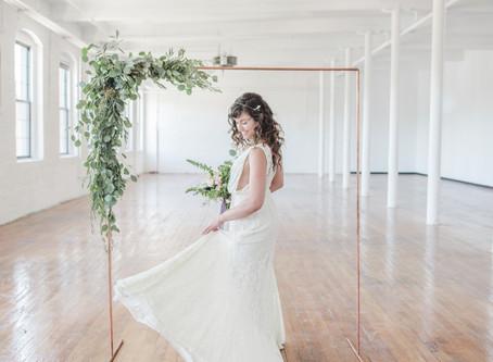 Sustainable Wedding Fashion | Modern Loft Wedding | Portland, Maine Wedding Photographer