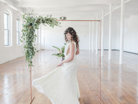 Sustainable Wedding Fashion | Modern Loft Wedding | Portland, Maine Wedding Photographer