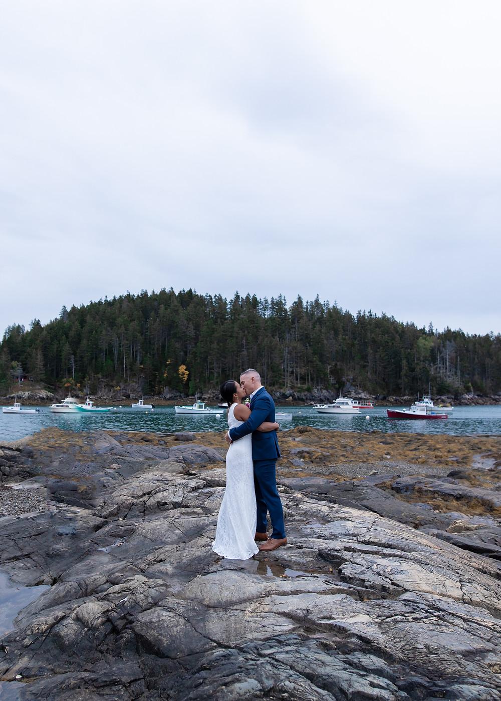 Elopement photographer in Maine