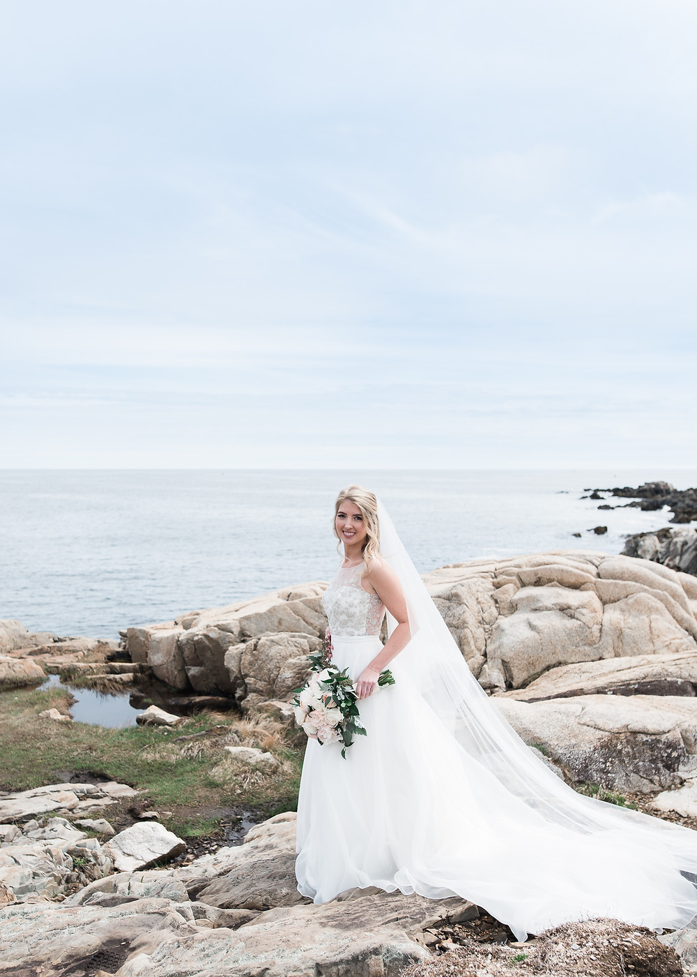 Bridal Portraits in Kennebunkport Maine