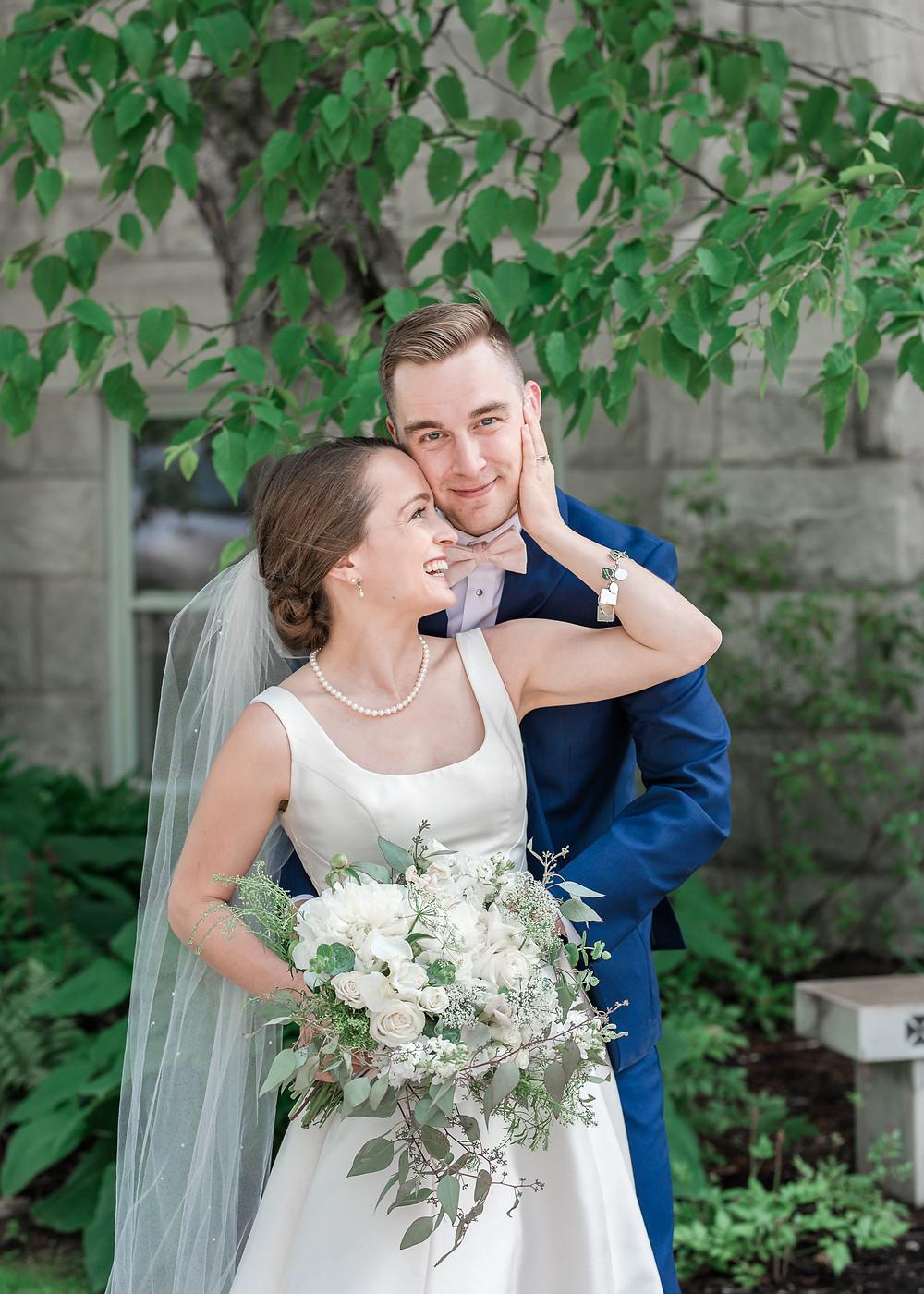 Couples Portrait at Dorset, Vermont wedding