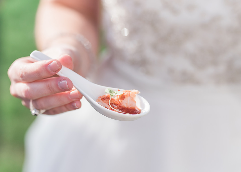 Lobster appetizer photography at Kennwbunkport, Maine wedding