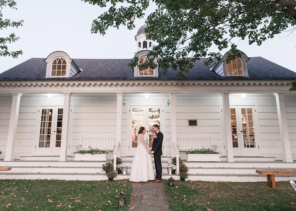 Bailey Island Library Hall wedding photography