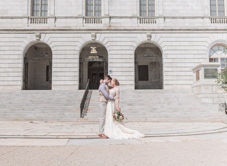 Portland City Hall Elopement | Sustainable Fashion | Food City of the Year - Destination Wedding Cit
