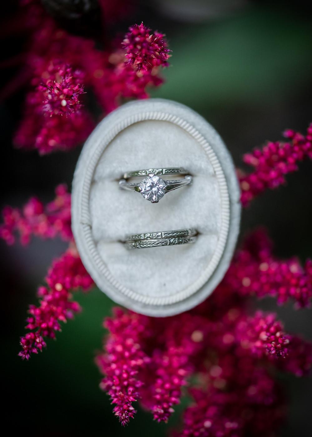 vintage wedding jewelry and Maine wedding photography