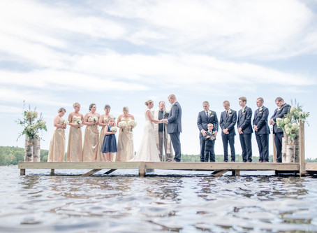 Megan + Nate | Private Lakeside Wedding | Forest Lake, Maine