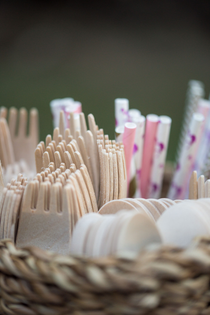 Paper Straws and Bamboo Cutlery