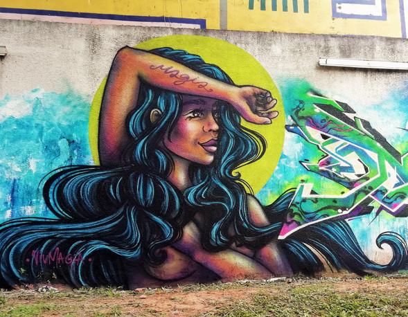 Collective mural for Museum of Contemporary Art of Santa Cruz. Santa Cruz, Bolivia, 2018