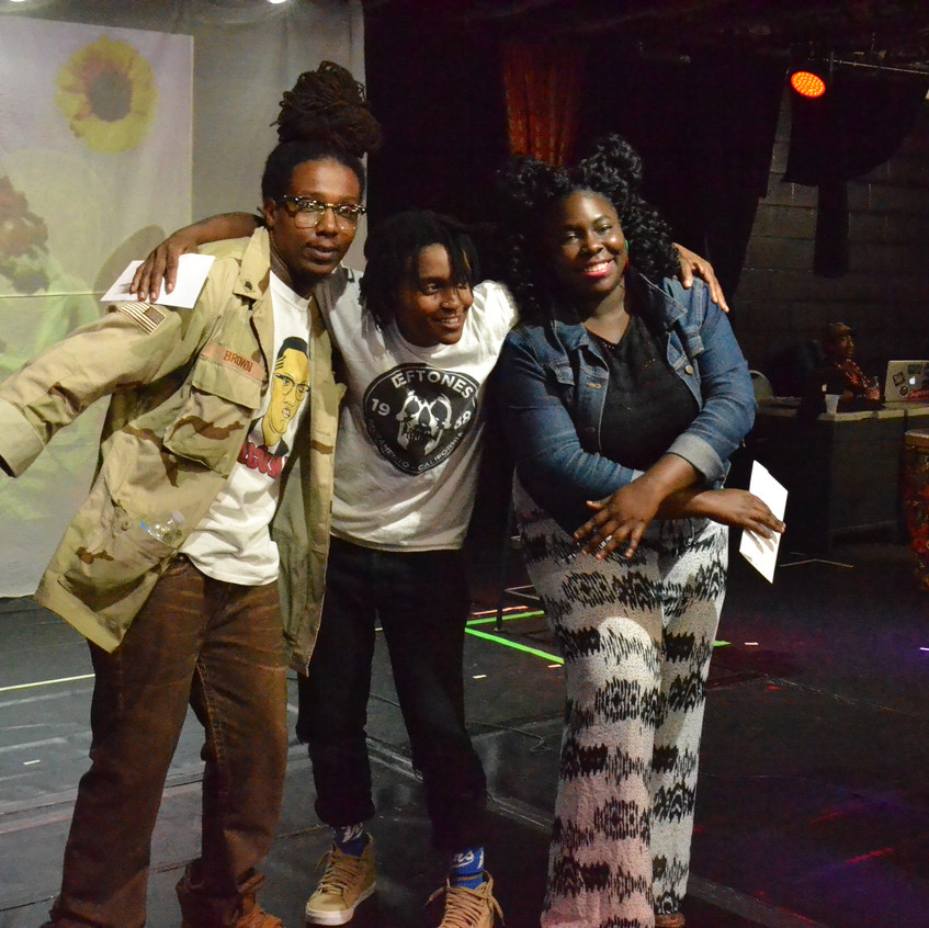 The top three in STAY WOKE's Poetry Slam. Photo credit: A.J. Kmetz