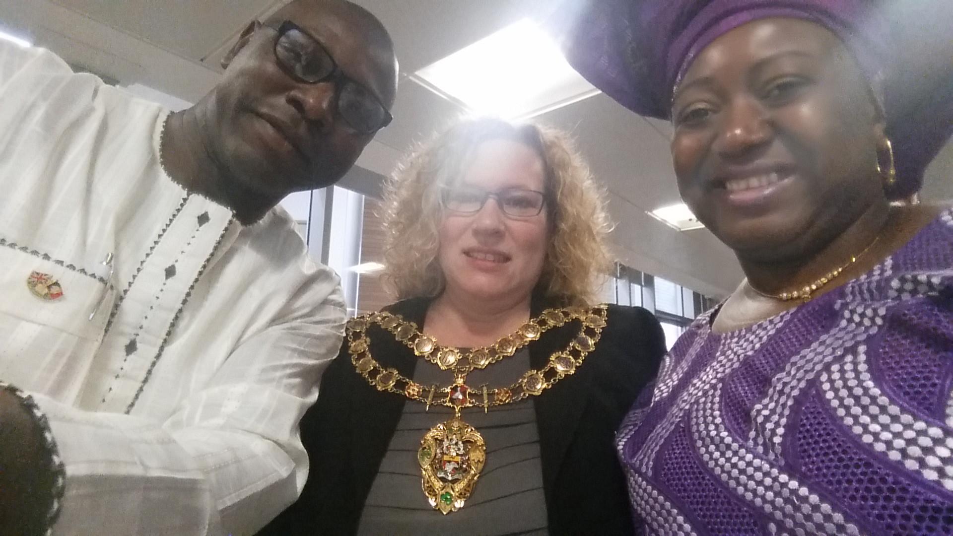 NCAA Members with Mayor of Aylesbury Cllr Allison