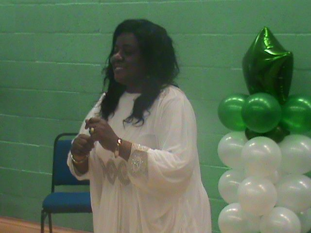 Mrs Olaomo showing some dancing skills