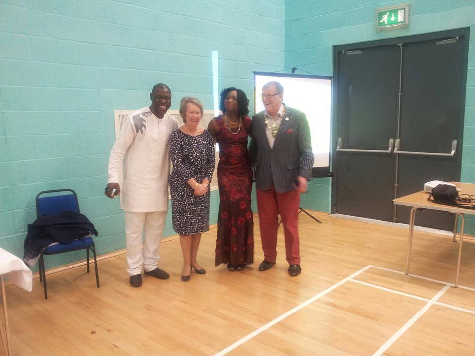 NCAA President(Dayo, Mrs Rand, VP NCAA (Queen) and Cllr Michael Rand