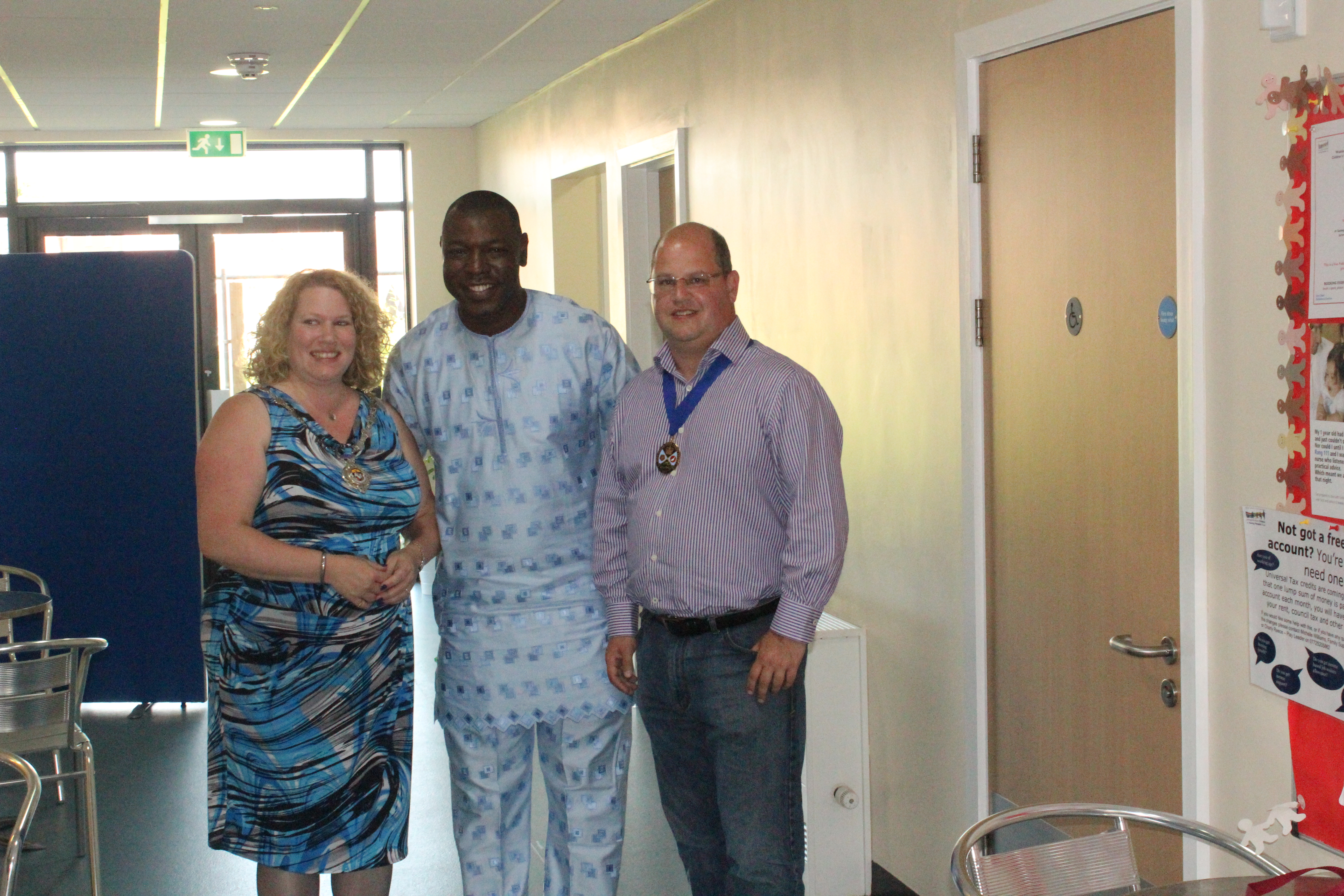 Cllr Allison, NCAA President (Dayo) and Cllr Anders