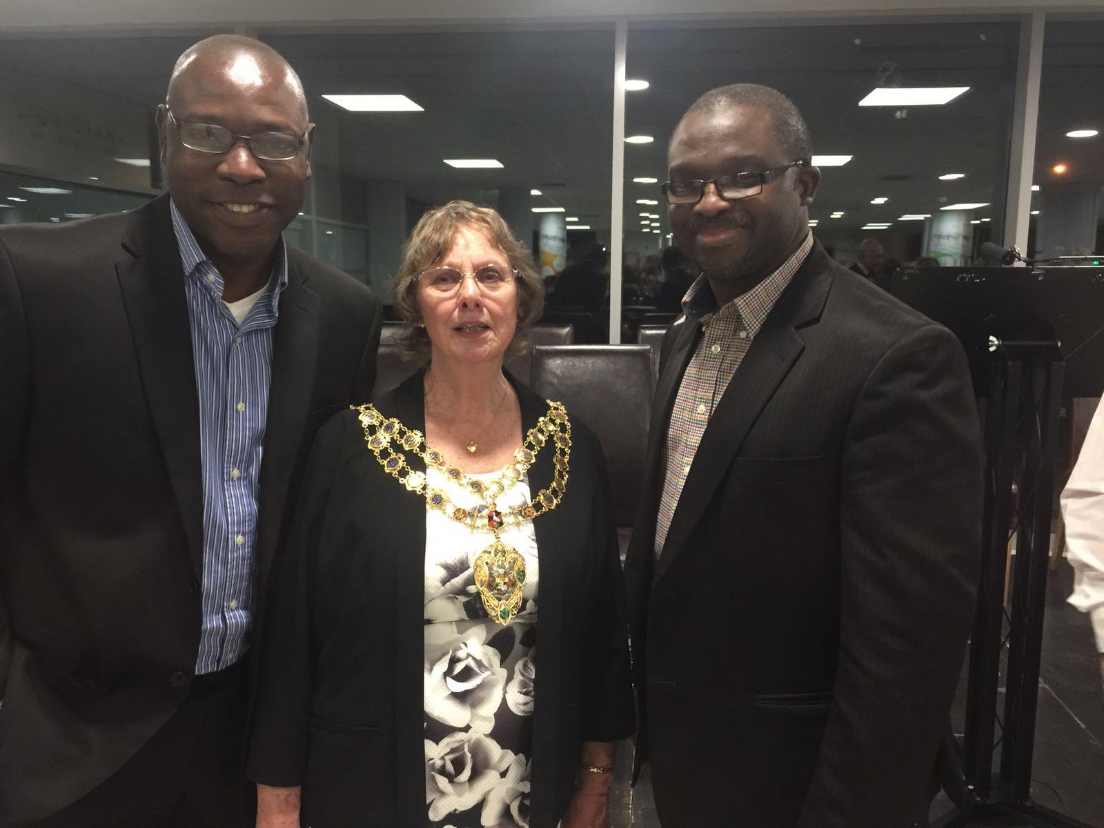 With the new mayor of Aylesbury