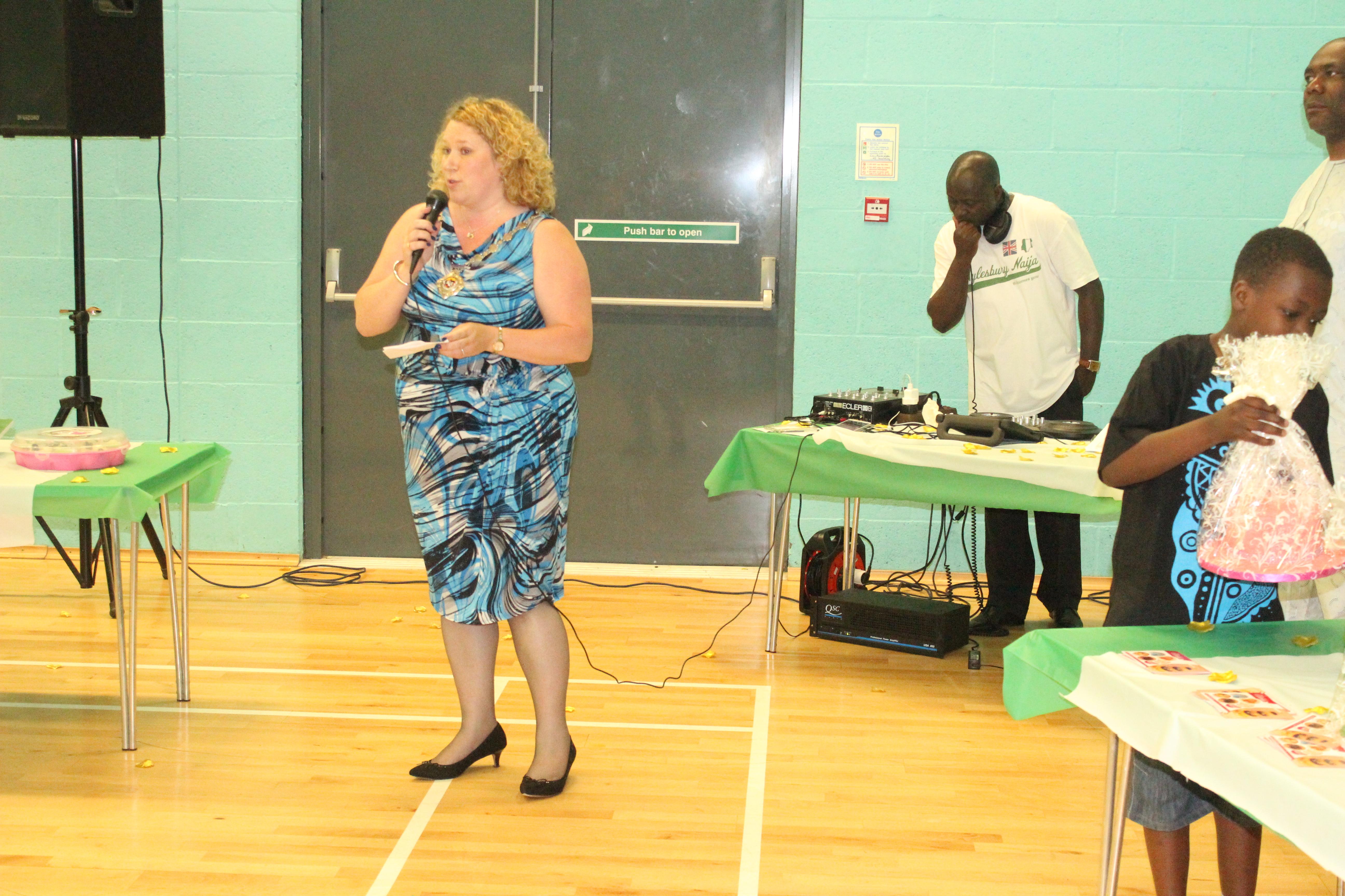 Cllr Allison giving a speech