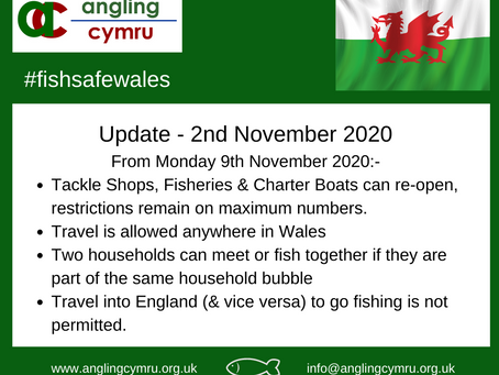 Anglers out of lockdown from 9th November