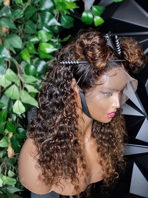 Chun Li ( Raw Curly) Lace Frontal Wig