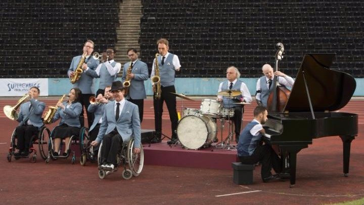 "Superhumans Paralympics Advertising: a captivating swing rhythm, ""The Superhumans Band"" performs a cover of Sammy Davis Jr.'s track ""Yes I Can"", disabled musicians led by Tony Dee - commercial, spot, marketing, sound branding, audio branding, sound design - sound identity music blog"