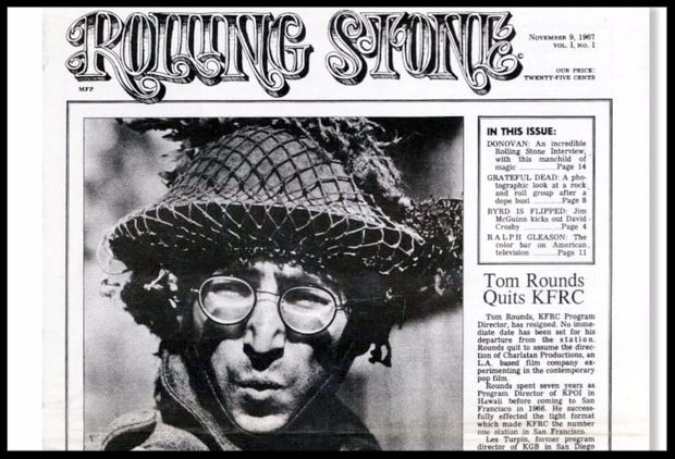 Rolling Stone first issue, making music history  - John Lennon,  tbt magazine, sound identity blog