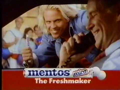 Back in 90s' Mentos jingle and Foo Fighters parody. ad. commercial, marketing, sound identity, tbt