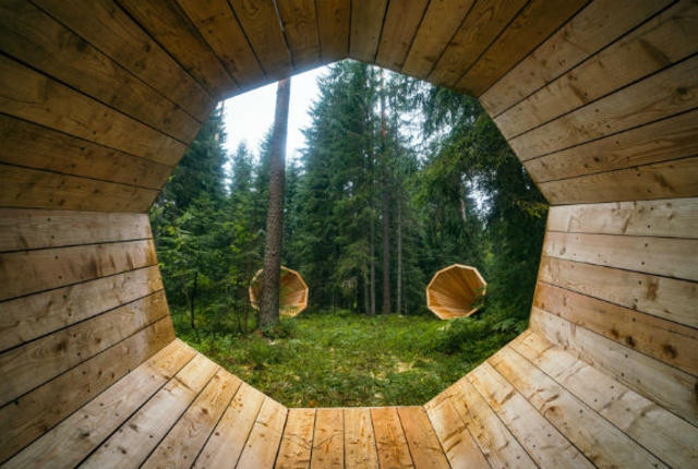 Giant Megaphones Estonian students Forest Amplify the Sound of Nature - sound design audio -  Sound Identity blog